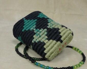 Emerald & Black Wearable Basket Necklace