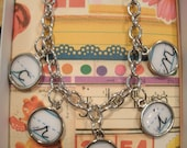 vintage handwriting name bracelet