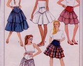 Simplicity 8626 Vintage Skirt Sewing 1980s Pattern UNCUT Hips 36 Inches Size 12