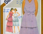 Simplicity 9933 Tiered Ruffle Dress and Gown Sewing Pattern Size Bust 32 Inches