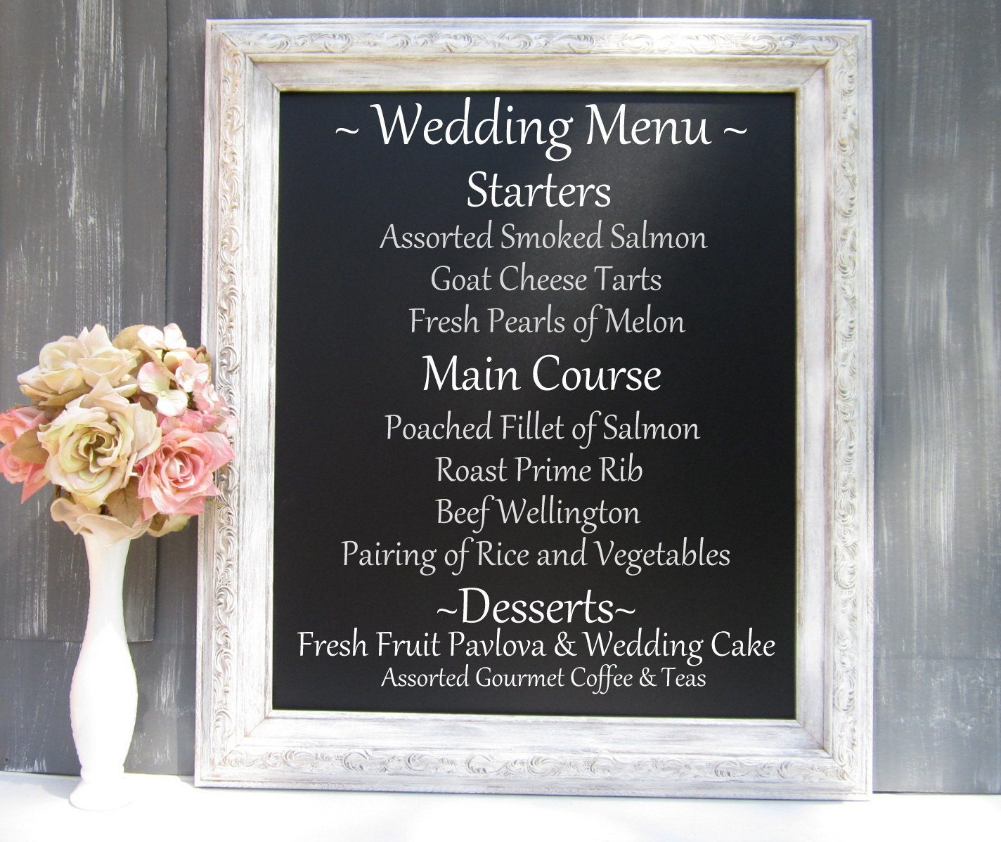 Decorative Chalkboard For Sale Framed Menu Board