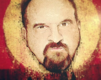 """Louis CK's """"After the Laughter"""" - 12x18 Officially Signed, Dated and Hand-Stamped Art Print"""