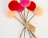 Pom Pom Flowers Bouquet- MADE TO ORDER