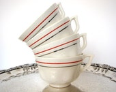 Mix and Match China Coffee Cups Set of Four Mid Century from AllieEtCie
