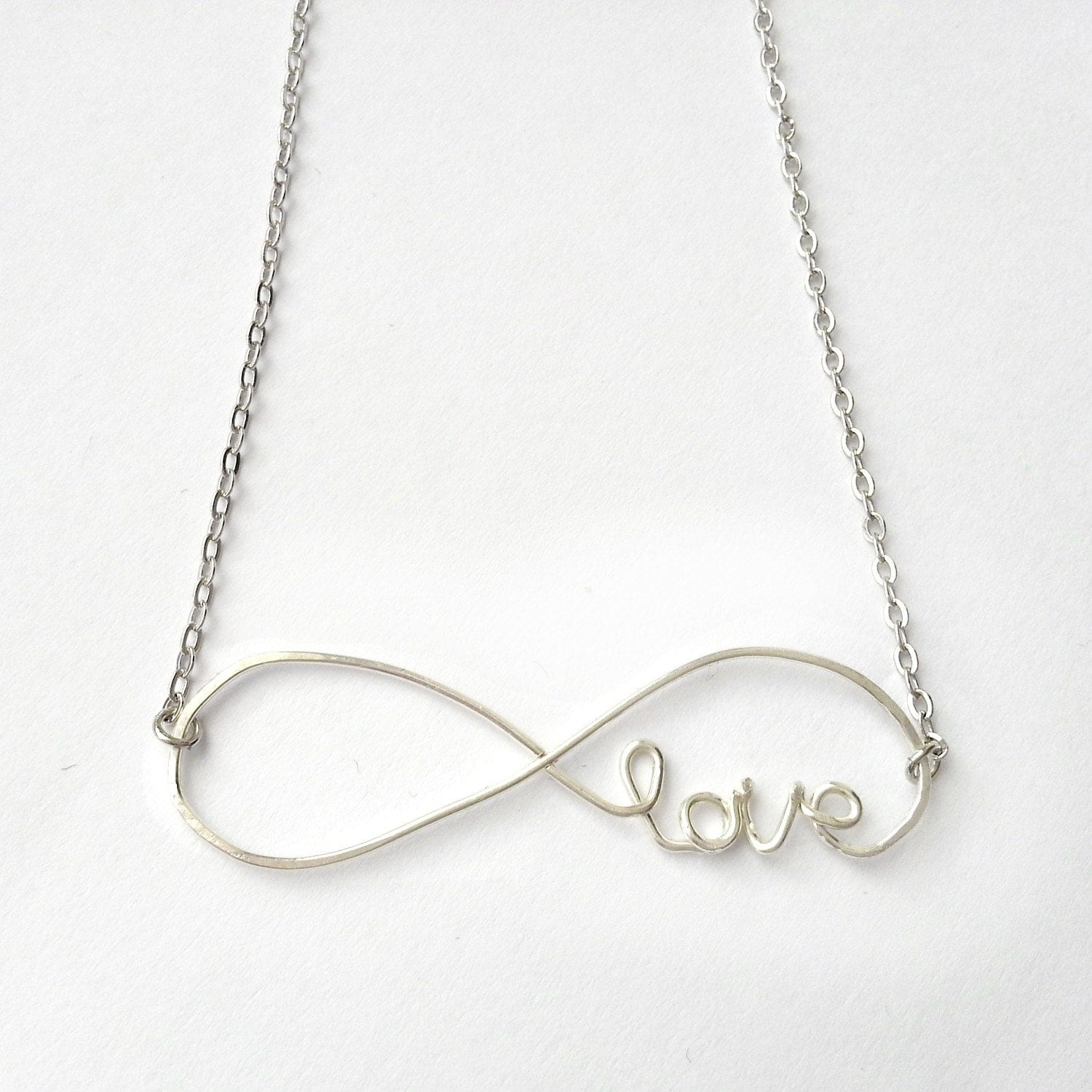 Infinity Love Necklace Infinite Love Necklace Cursive Love