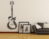 Vinyl Wall Decal Sticker Guitar Doodle 1132s