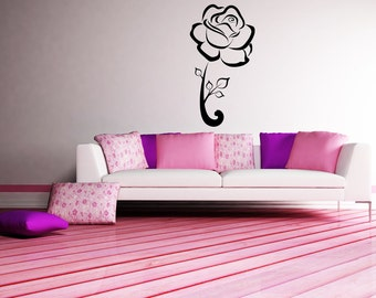 Vinyl Wall Decal Sticker Single Rose 1048m