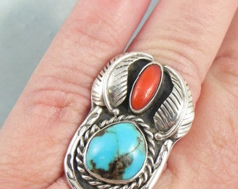 Genuine Turquoise Sterling Silver RIng