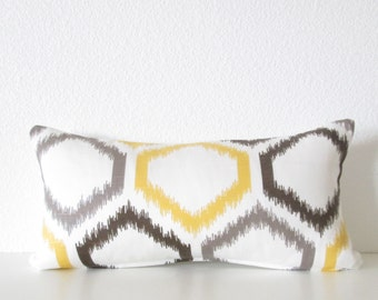 Dwell Studio Trellis Citrine 8x16 mini lumbar pillow cover
