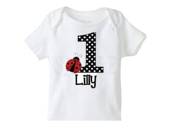 Ladybug Birthday Shirt or Ladybug Bodysuit