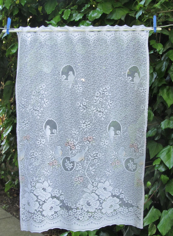 Vintage Lace Window Curtains White Bird Curtain