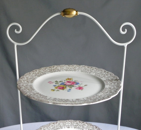 Cake Stand Kitchen Art : Cake Stand Cake Plate Serving Tiered Cake Stand Vintage China