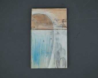Blue - painted on wood