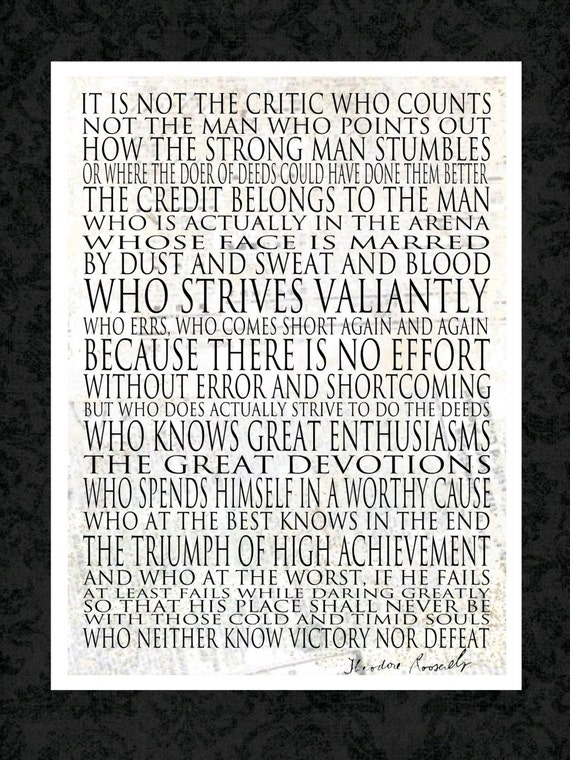 Genius image intended for man in the arena free printable