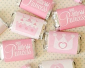 Princess Party PRINTABLES Mini Candy Bar Wrappers (INSTANT DOWNLOAD) by Love The Day