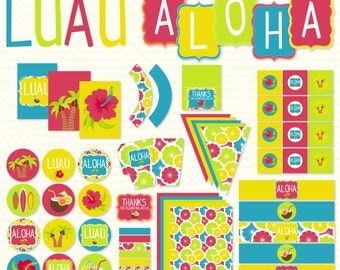 Summer Luau PRINTABLE Party by Love The Day