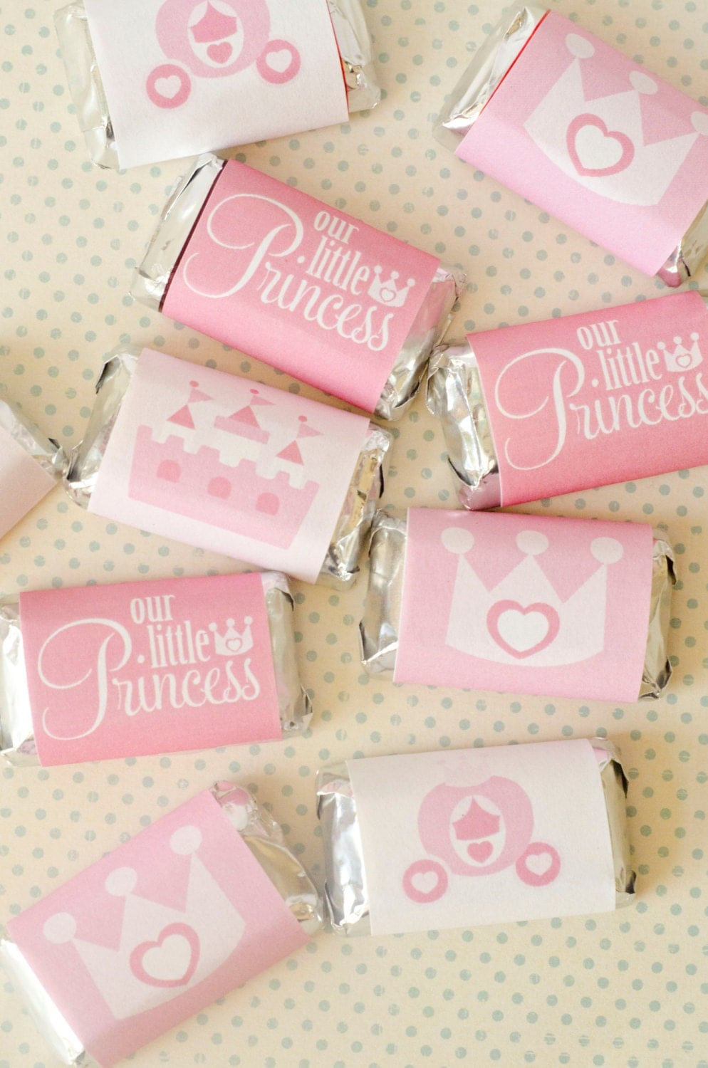 Princess Party PRINTABLES Mini Candy Bar Wrappers INSTANT