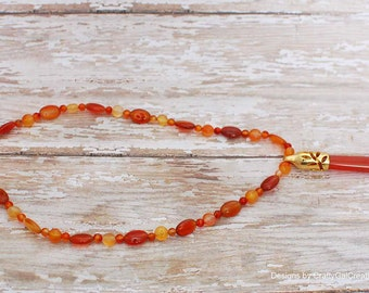 Carnelian Pendulum  necklace