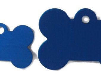 Small  Bone - Pet Tag - Engraved - 2 Sided