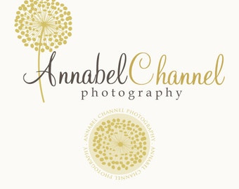 Premade Dandelion Logo and Watermark With Extra Accent Element