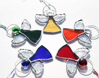 Stained Glass Angel Suncatcher, Angel Decor, Christening and Baptism Favours  Choose Your COLOUR  Guardian Angel