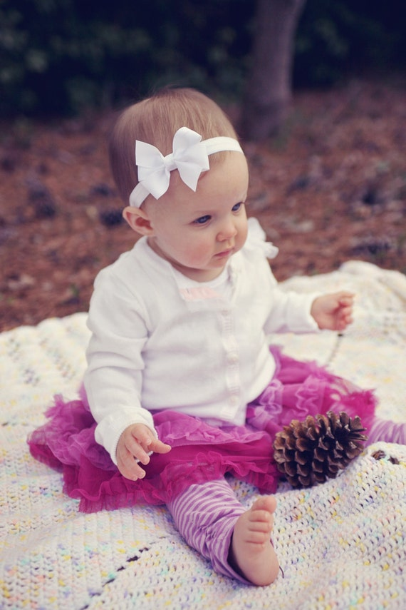 White Baby Headband Infant Headband Baby Headband Newborn