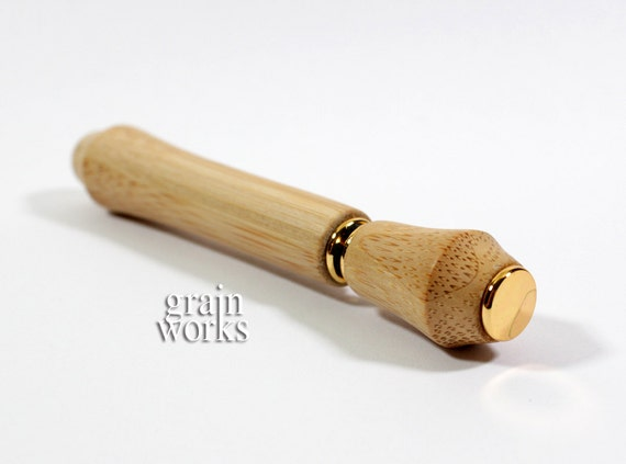Bamboo Perfume / Aromatherapy Pen with 24kt Gold Accents