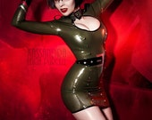 Latex Madam Commisar Dress