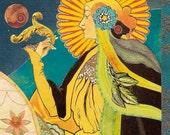"""The Empress Sibylline Tarot Art Giclée Print 5 x 7"""" Matted"""