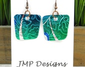 POP of COLOR.  Simple Earrings.  DOUBLE-sided Earrings.  Sprite