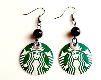 SALE Item Teen Girl Jewelry Starbucks Jewelry Teen Girl Gift Earrings Recycled Soda Can Jewelry Eco Friendly - E50