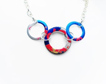 Red Bull Circle Necklace Recycled Soda Can Aluminum Can Jewelry Teen Girl Jewelry Women Teen Girl Gifts Women Sale Jewelry Flash Sale R24