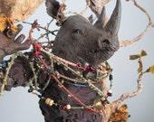 Rhino Anthro Art Doll: Hornet Whisperer