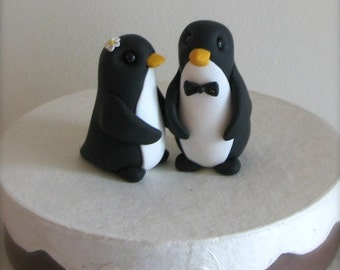 READY to SHIP Keepsake Penguin Wedding Cake Topper handmade