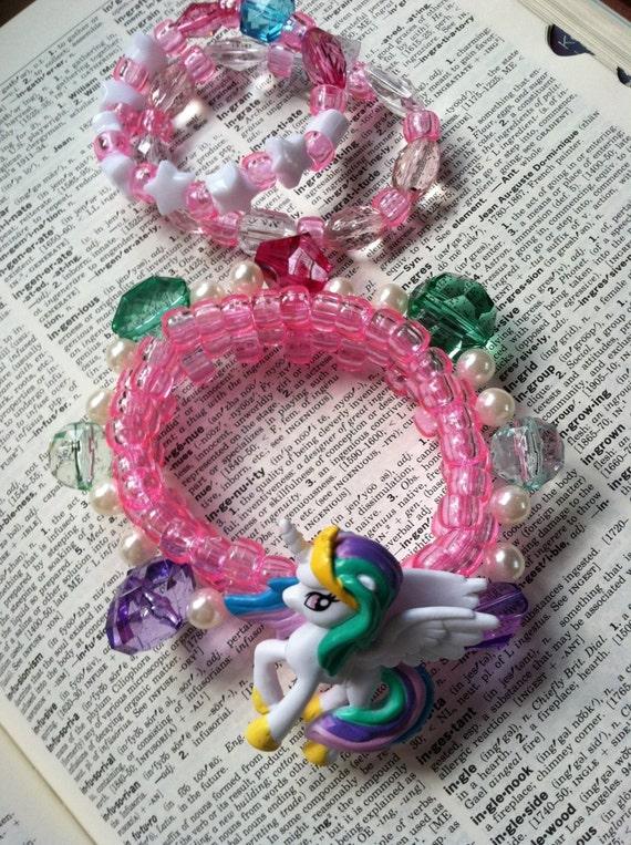 Princess Celestia Kandi My Little Pony Fairy Kei Cuff set