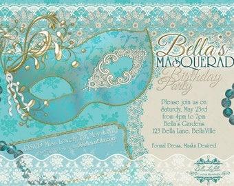 items similar to masquerade party invitation  mardi gras party, Party invitations
