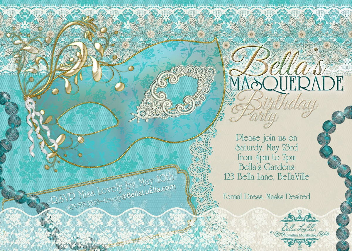 Masquerade Party Invitation Masquerade Invitation Mardi Gras