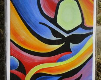 "8"" x 10"" Fine Art Giclee Print: IGUANA SUNSET"