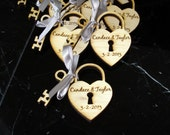 12 Heart and Key Wedding Favors