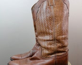 Classic Vintage Chestnut Western Boots