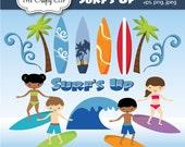 SALE! Surfs Up Clip Art Set