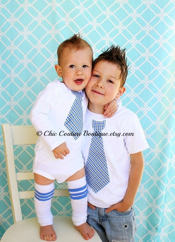 Christmas Holiday Tie Set of 3. 2 Tie Shirts & 1 Pair Leg Warmers. Big Brother Little Brother Tie Shirts. Ring Bearer, Matching