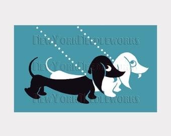Dachshunds Cross Stitch, Dachshunds Pattern, Dogs Cross Stitch, Needlepoint, Dog Pattern, Dachshunds, Dogs by NewYorkNeedleworks on Etsy