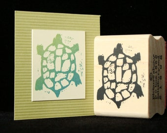 pictureshow rubber stamp, turtle  (larger)