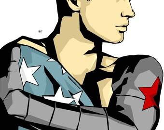 Bucky and flag