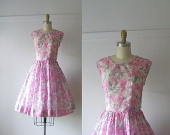 vintage 50s/60s party dress / Bed of Roses