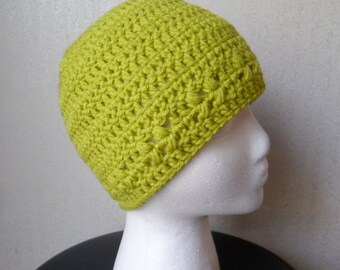 Kylie Hat in Grass - Beanie Beenie Cloche Cap  - Ready to Ship - FREE US Shipping