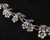RESERVED: Pewter Flower Charm Bracelet - BLOOM by Blu Daisy Jewelry