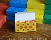 DIY Printable Lego-Inspired Building Blocks Favor Boxes 4-colors