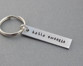 Dr Who Hello Sweetie Hand Stamped Keychain by TheCopperFox